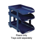 Rexel Agenda2 Letter Tray Height Risers Blue (5)