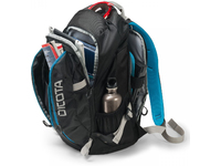 """DICOTA Backpack Active 15.6"""" Laptop Bag Black/Blue. Hidden notebook compartment with HDF (High-Density Foam"""
