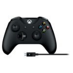 Microsoft 4N6-00002 gaming controller Gamepad PC,Xbox One Bluetooth/USB Black