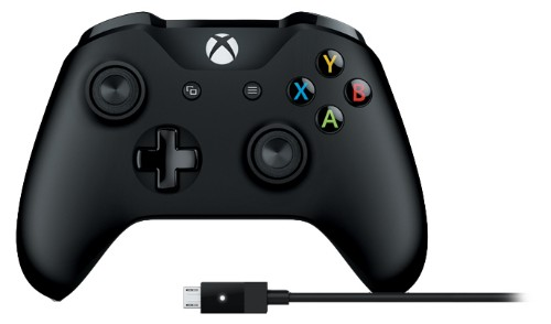 Microsoft 4N6-00002 Gaming Controller Gamepad PC, Xbox One Bluetooth/USB Black