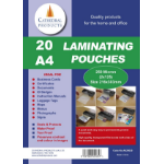Cathedral Products Laminating Pouch A4 250Micron Pk20