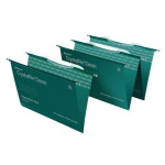 Rexel Crystalfile Classic Foolscap Suspension File Links Green(50)