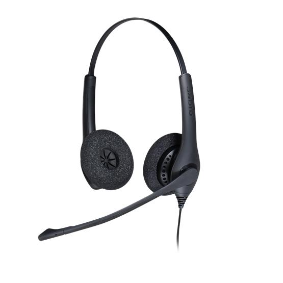 Jabra BIZ 1500 Duo QD Auriculares Diadema Negro