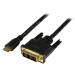 StarTech.com Adaptador Cable Conversor de 2m Mini HDMI a DVI-D para Tablet y Cámara