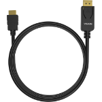 Vision TC 1MDPHDMI/BL video cable adapter 1 m DisplayPort HDMI Typ A (Standard) Schwarz