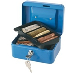 Q-CONNECT KF02608 Blue cash/ticket box