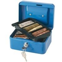 Q-Connect Blue 6 Inch Cash Box