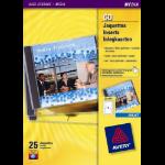 Avery J8435-25 printer label White