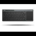 Rapoo K2600 keyboard RF Wireless QWERTY UK English Black, Grey