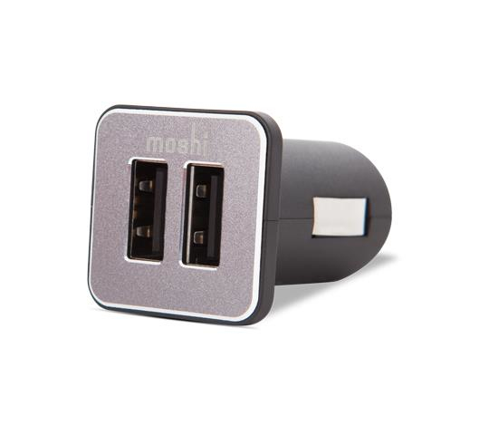 Moshi 99MO022007 Revolt Duo - Dual Port USB Car Charger mobile device charger iPhone, iPad, iPod Auto Black