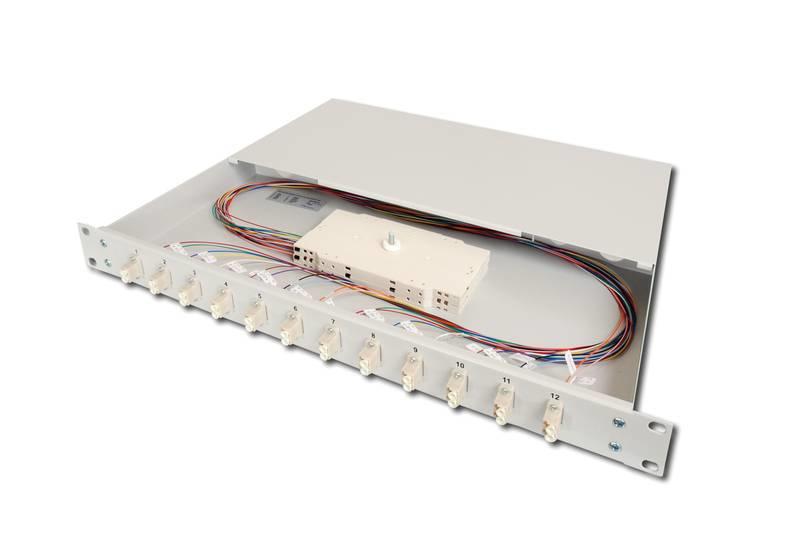 Digitus DN-96332/3 LC 1pc(s) Grey fiber optic adapter