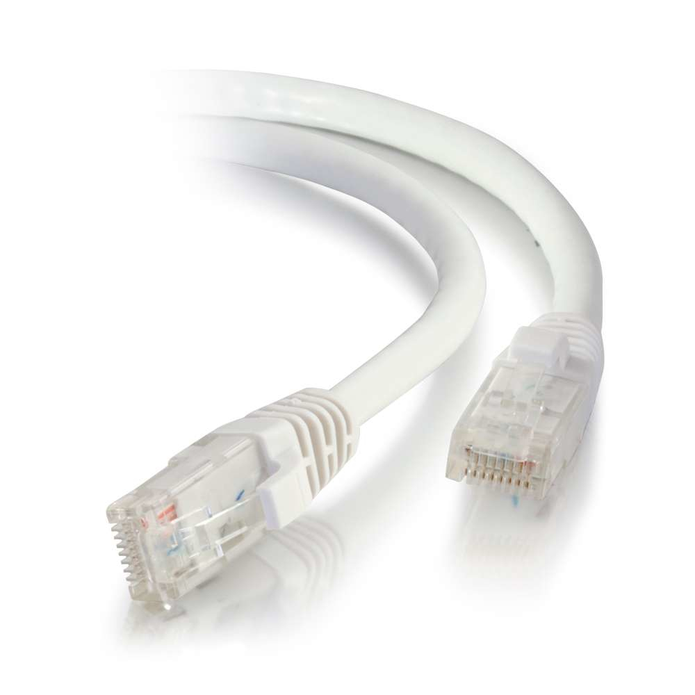 C2G 0.3m Cat5e Booted Unshielded (UTP) Network Patch Cable - White