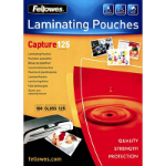 FELLOWES LAMINATING POUCH 64 X 108MM 125 MICRON GLOSS PACK 100