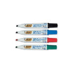 BIC Velleda Whiteboard 1701 marker 4 pc(s) Bullet tip Black, Blue, Green, Red