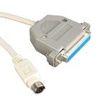 Videk 4074 serial cable White 2 m Mini 8 Din 9DS