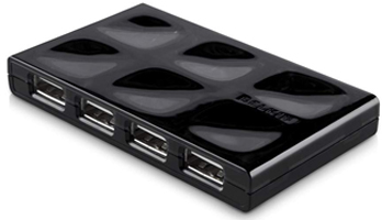 USB Hub 7-port - Mobile Hub Black
