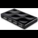 Belkin F5U701-BLK nodo concentrador 480 Mbit/s Negro