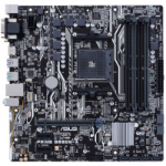 ASUS AMD Ryzen Socket AM4, B350 Chipset, 4 x 2666MHz DDR4, 6x SATA3, 1x M.2 Socket 3, Realtek Gigabit LAN
