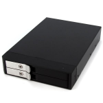 StarTech.com 3.5in Trayless Hot Swap SATA Mobile Rack for Dual 2.5in Hard Drives