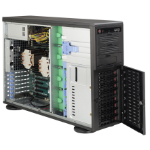 Supermicro 743TQ-865B-SQ Full Tower Black Rack-Mountable Workstation / Server Case with 865W Power Supply