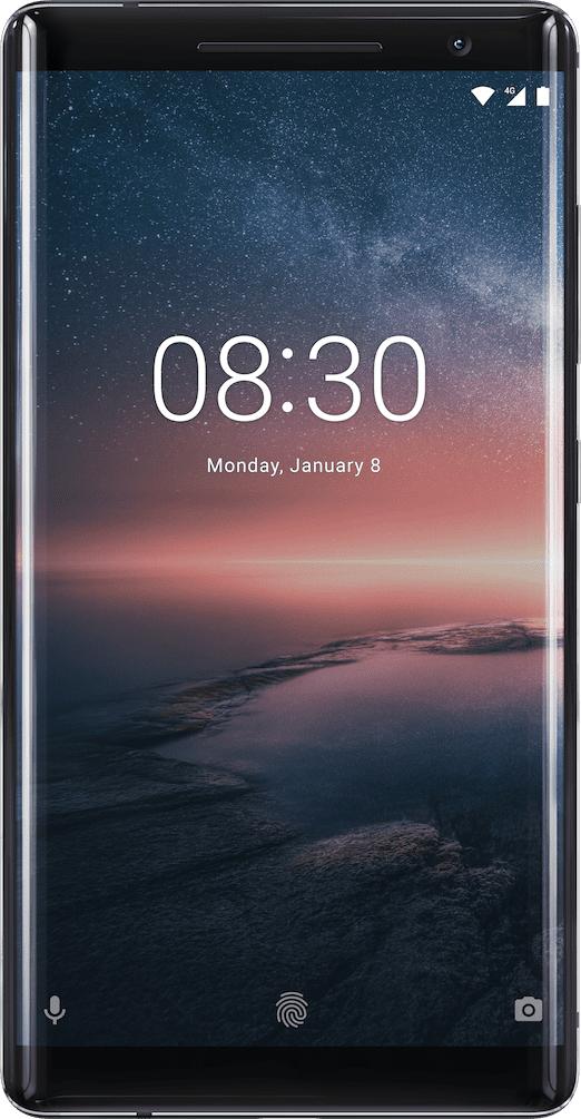 """Nokia 8 Sirocco 5.5"""" 4G 6GB 128GB 3260mAh Black 11A1NB01A01"""