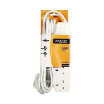 Belkin E-Series 4 Socket, 3-Metre SurgeStrip 4 AC outlet(s) 230 V White 3 m
