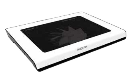 """Approx APPNBC06 notebook cooling pad 39.6 cm (15.6"""") 1500 RPM Black, White"""