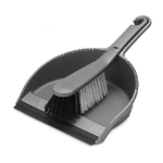 ADDIS Dustpan & stiff brush set metallic