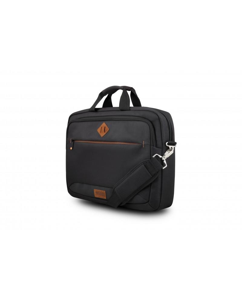 "Urban Factory ETC15UF maletines para portátil 39,6 cm (15.6"") Maletín Toploader Negro"
