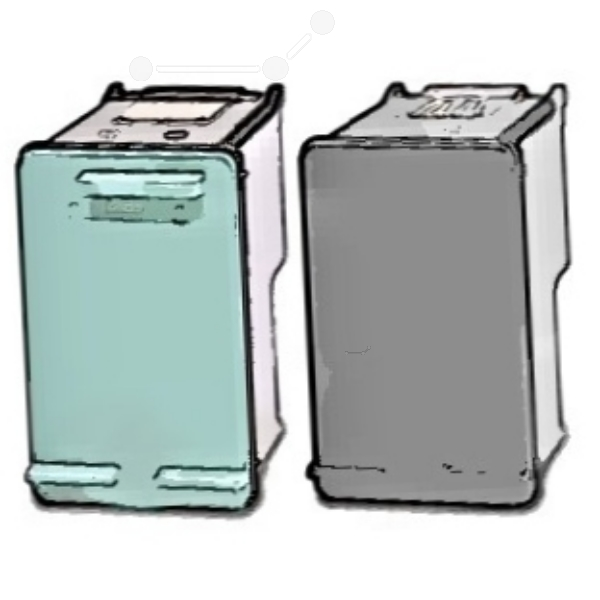 HP SD412EE#301 (350+351) Printhead multi pack, 200 pg + 170 pg, Pack qty 2