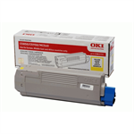 Oki 43865721 Toner yellow, 6K pages @ 5% coverage