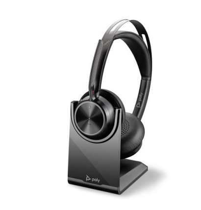 POLY Voyager Focus 2 UC Headset Head-band USB Type-A Bluetooth Charging stand Black