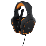 Logitech G231 Binaural Head-band Black, Orange