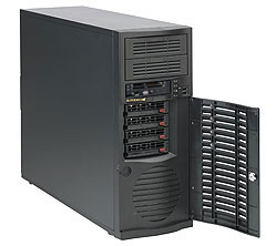 Supermicro CSE-733T-500B Midi-Tower 500W Black computer case