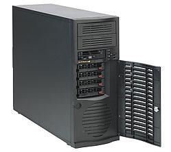 Supermicro CSE-733T-500B computer case Midi-Tower Black 500 W