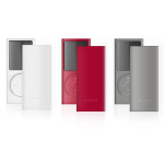 Belkin Simple Silicone Sleeve - 3-pack for iPod nano (4th Gen) Red / Grey / White