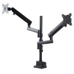 "StarTech.com ARMDUALPIVOT monitor mount / stand 32"" Clamp Black"