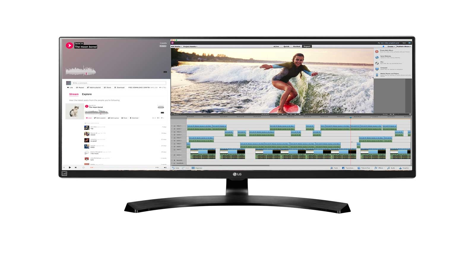 """LG 34UM88C-P LED display 86.4 cm (34"""") UltraWide Quad HD Flat Black"""
