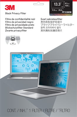 """3M 13.3"""" Widescreen (16:9) Laptop Privacy Filter"""