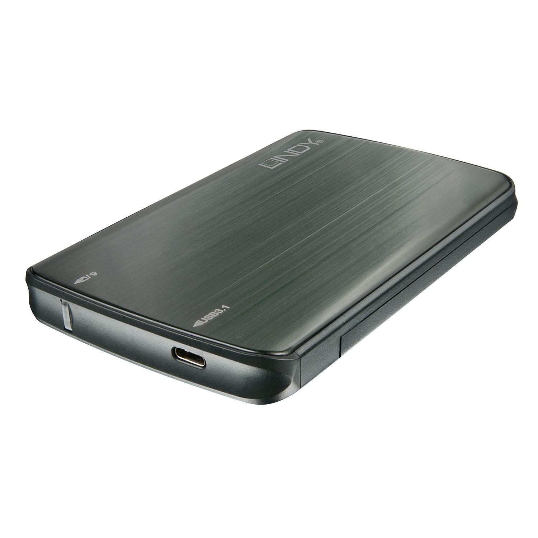 "Lindy 43184 HDD/SSD enclosure 2.5"" Black HDD/SSD enclosure"