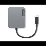 Lenovo 4X91A30366 interface hub USB 2.0 Type-C Grijs