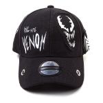 Marvel Venom We Are Venom Grunge Patches Adjustable Baseball Cap, Unisex, Black (BA567451MAR)