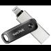 Sandisk iXpand unidad flash USB 64 GB USB Type-A / Lightning 3.2 Gen 2 (3.1 Gen 2) Negro, Plata