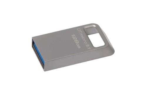 Kingston Technology DataTraveler Micro 3.1 128GB USB flash drive USB Type-A 3.2 Gen 1 (3.1 Gen 1) Metallic