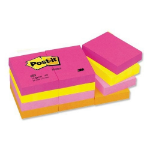 Post-It Colour Notes Pad Warm Neon (12 pack) self-adhesive label 100 pc(s)