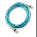 Hewlett Packard Enterprise AJ839A 50m LC LC Blue fiber optic cable