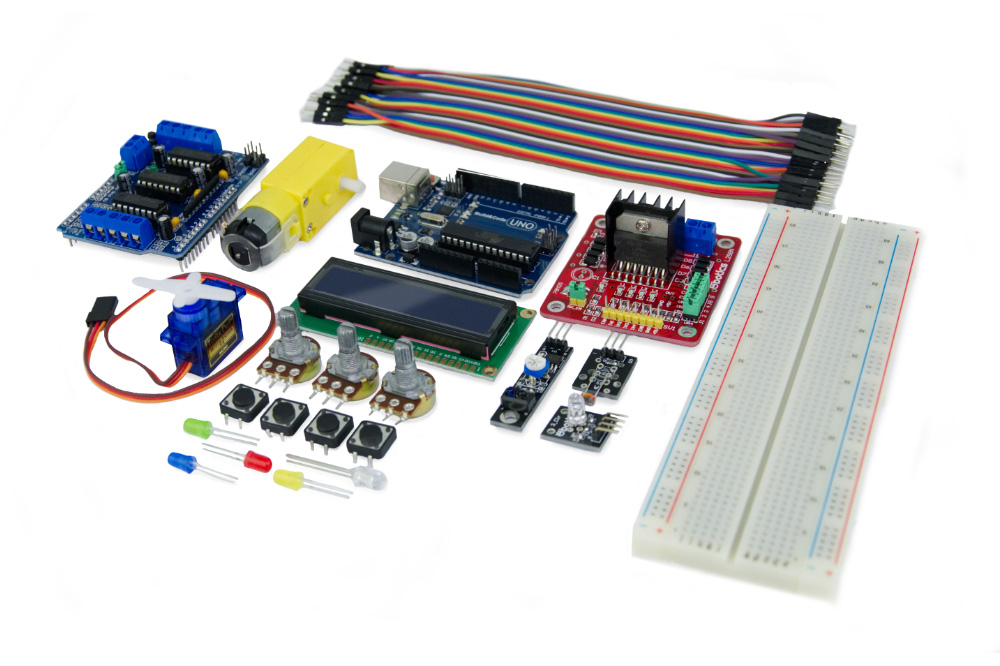 ebotics Programmable Basic Electronic Plus Kit Uno R3 Board Arduino Compatible