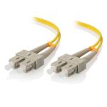 ALOGIC 1m SC-SC Single Mode Duplex LSZH Fibre Cable 09/125 OS2