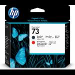 HP 73 Mattschwarz/Chromrot Designjet Druckkopf