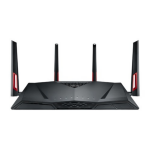 ASUS RT-AC88U Dual-band (2.4 GHz / 5 GHz) Gigabit Ethernet Black,Red 3G 4G